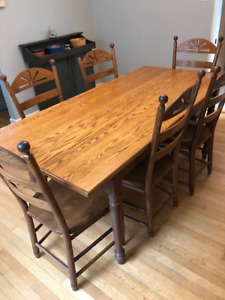 Kitchen table and 6-chair set