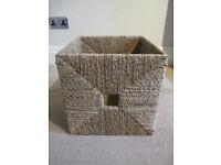 4 x IKEA Knipsa seagrass baskets