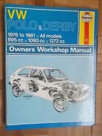 HAYNES OWNERS WORKSHOP MANUALS VW Polo MGB, Simca 1100 & 1204, BL Princess & BLMC 18-22