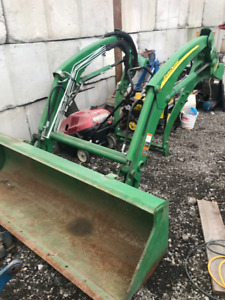 John Deere front end loader & front attachments