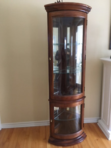 CURIO CABINET –  Perfect for Small Spaces or Senior's Residence