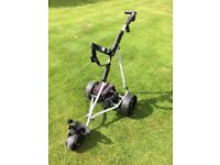 Excellent condition Powakaddy Freeway electric golf trolley, with 32 hole battery and charger.