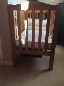 Used John Lewis Cot bed & Mattress