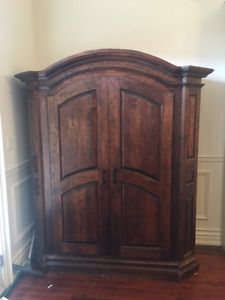 Hand Crafted Armoire, Solid Pine Wood