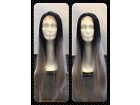 Beautiful Synthetic Lace Front Wig - Black/Grey