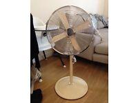 Swan cream coloured fan, classic design