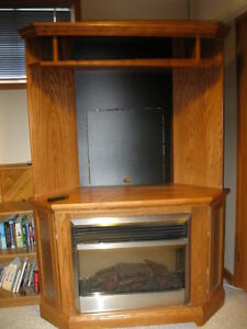 T.V. CABINET WITH ELECTRIC FIRE PLACE PRICE FURRTHER  REDUCED