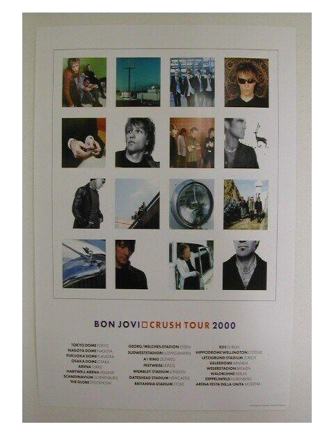 Jon Bon Jovi Tour Poster Crush 2000 Commercial