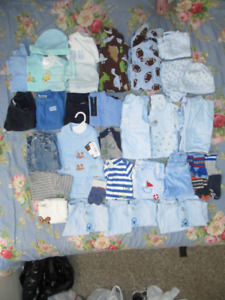 44 Pieces Clothes lot 6-12 Months Baby Boys ~NEED GONE