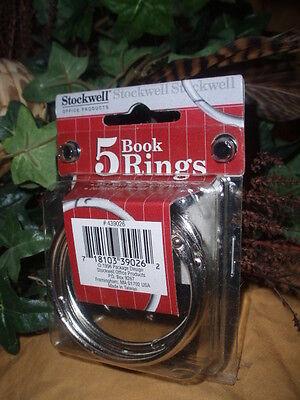 Stockwell Loose Leaf Binder Rings 2 Diameter 50mm Nickle Plated