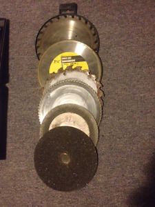 Assortment of 7 1/2 inch blades for circular saw - used
