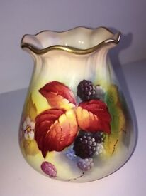 Vintage Royal Worcester Signed Kitty Blake Vase Circa 1939
