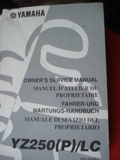 YAMAHA YZ250(P)/LC GENUINE FACTORY WORKSHOP SERVICE MANUAL c2001 Dianella Stirling Area Preview