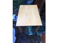 Children's table. Probably Ikea. Size 600mm deep x 850mm wide x 500mm high.