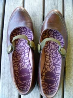 Brown leather flats made in Spain (Size 40) Alderley Brisbane North West Preview