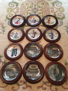Chinese Decorative Plates with Frames