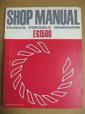 Oem Honda Portable Generator Eg1500 Shop Manual