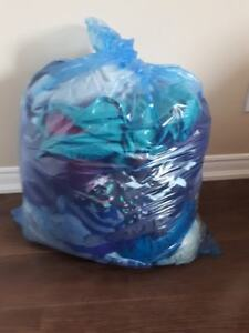 Bags of casual clothing