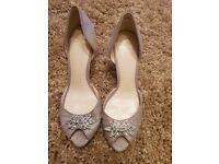 Jenny Packham No1 peep toe embellished heels