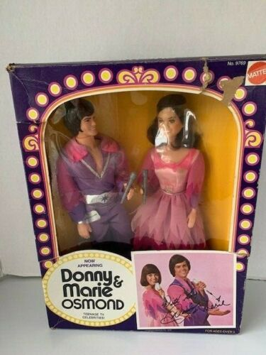 Donny and Marie Osmond 2 Pack Dolls Mattel 1976