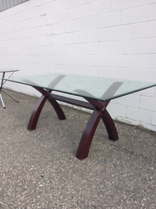 MODERN GLASS DINING TABLE ONLY $199!!!