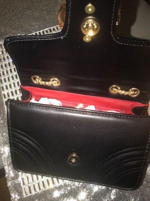 Womens GG Marmont Shoulder Bag Handbag Black Gold Inspired LV MK CC ... f9d106054319c