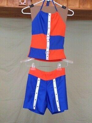 Orange & Blue Womens Jazz/Hip Hop - Hip Hop Jazz Kostüme