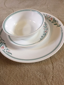 Dining wares - Correlle Dishes, glasses, utensils