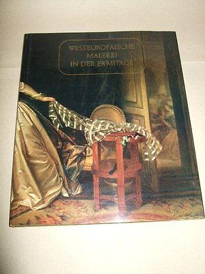 Europäische Kunst-malerei (Westeuropäische Malerei in der Ermitage,1984,sehr gut!,DDR,1,5kg!,Kunst-Bildband)