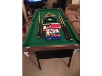 5 x 2.5 ft snooker table with folding legs