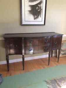 Price Reduced!  Antique Mahogany Buffet - Free Delivery!