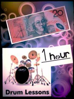 drum lessons 1hour $20 cheapest rates Brisbane City Brisbane North West Preview