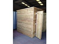 TIMBER GARDEN SHED - DOUBLE DOORS / ALL TANALISED TIMBER