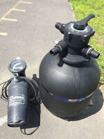 Above ground Pool Pump and Filter
