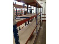 JOB LOT 11 bays of Rapid 1 industrial long span shelving . ( pallet racking , storage )