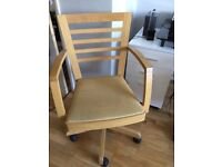 Two oak desk chairs ex John Lewis