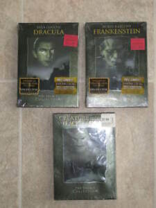 3 coffrets films DVD - Dracula, Frankenstein, Creature Black
