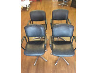 Faux leather chairs X 4