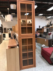 "TALL CABINET WITH GLASS DOORS ""BORYS"" - MUST GO!!!"