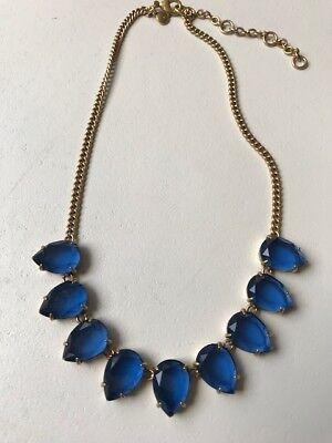 J. Crew Blue Gemstone Necklace - EUC! for sale  San Diego