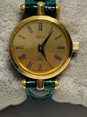 Vintage Gucci 9200 Ladies Gold Face Quartz Watch - New Battery