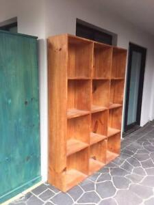 Timber cube shelves. Timber. Approx 1350w x 1800h x 300d South Coogee Eastern Suburbs Preview