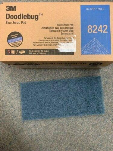 3M Part # 8242 Doodlebug Blue Scrub Pad  4-5/8 in x 10 in