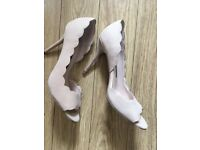 ladies french connection heels/stiletto shoes size 6/39 worn a couple of times. colour naked