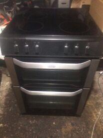 £126.99 Belling sls/Black ceramic electric cooker+60cm+3 months warranty for £125.99