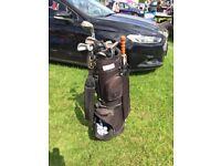 Golf Clubs, Golf Bag and over a dozen golf balls