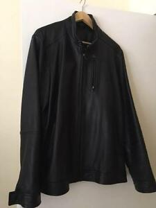 XL Rodd & Gunn Black Leather Jacket Darling Point Eastern Suburbs Preview