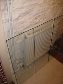 3 Glass Shelves for a Display Cabinet 3mm green edge