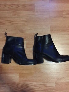 Black Leather Booties OBO