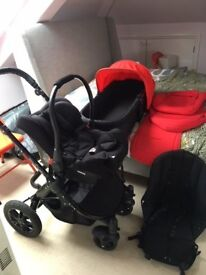 Ickle Bubba Stomp V3 COMPLETE Travel System (with isofix base x2)